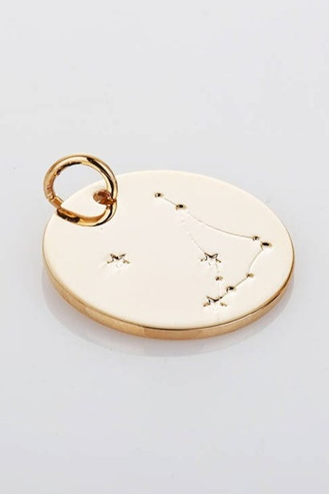 Amber Gold Zodiac Constellation Necklace - Front Cropped Image