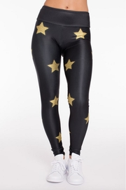 Gold Sheep Glitter Stars Legging - Front cropped