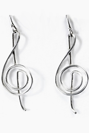 Goldcrafter's Corner Designer Clef Earrings - Product Mini Image