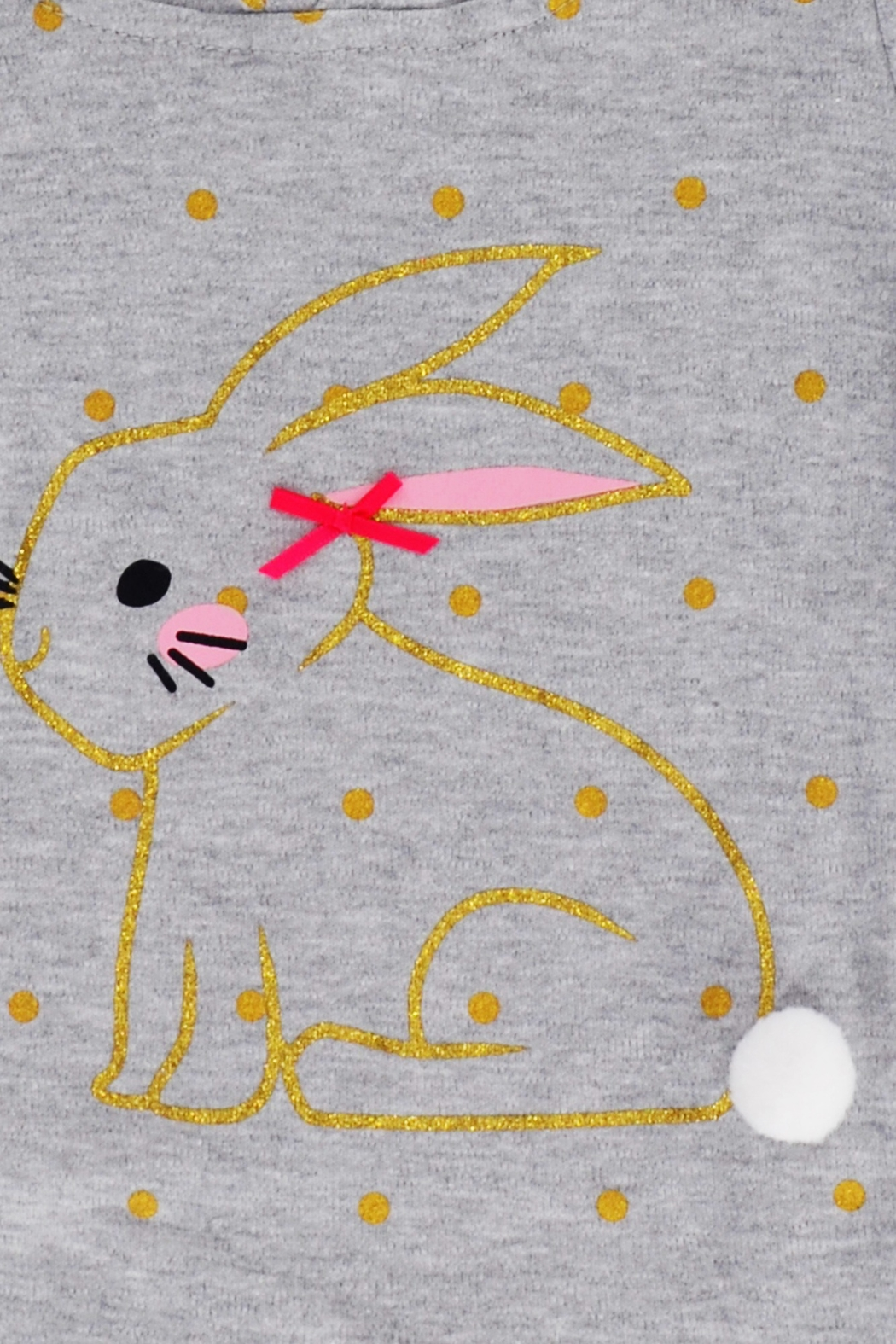 T & Tim Golden Bouncy Bunny Romper in Gray - Back Cropped Image