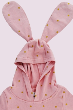 T & Tim Golden Bouncy Bunny Romper in Pink - Alternate List Image