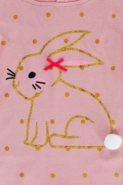 T & Tim Golden Bouncy Bunny Romper in Pink - Side cropped