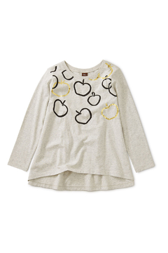 Shoptiques Product: Golden Bounty Graphic Twirl Top