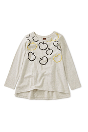 Tea Collection Golden Bounty Graphic Twirl Top - Front cropped