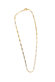 SA Jewelry Gold Paperclip Chain Necklace - Product Mini Image