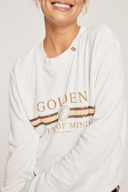 SPIRITUAL GANGSTER Golden Crop Sweatshirt - Product Mini Image