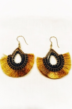 WorldFinds Golden Fan Earring - Alternate List Image