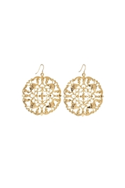 moon & lola Golden Filigree Earrings - Product Mini Image