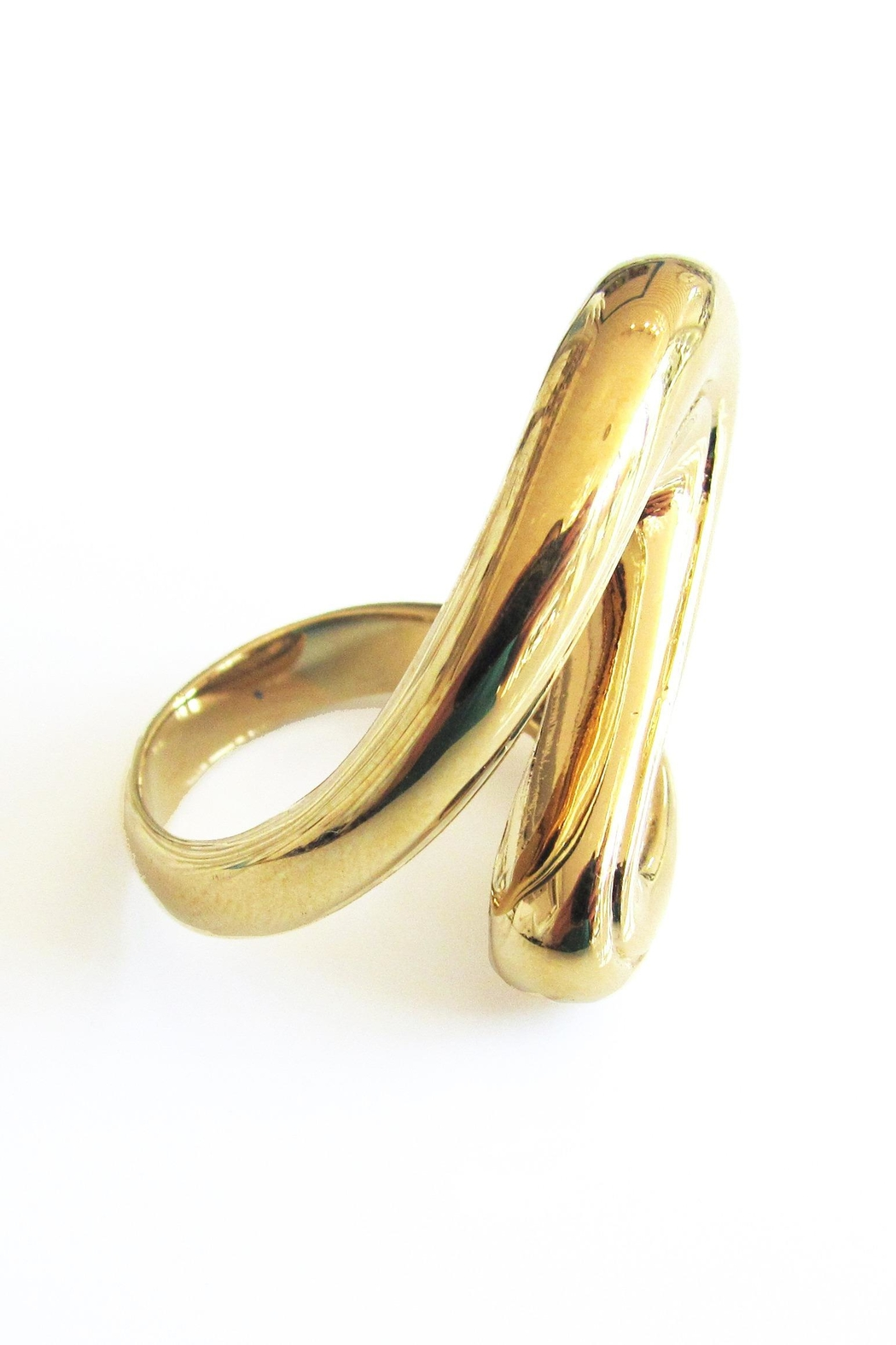 Malia Jewelry Golden Flow Ring - Side Cropped Image
