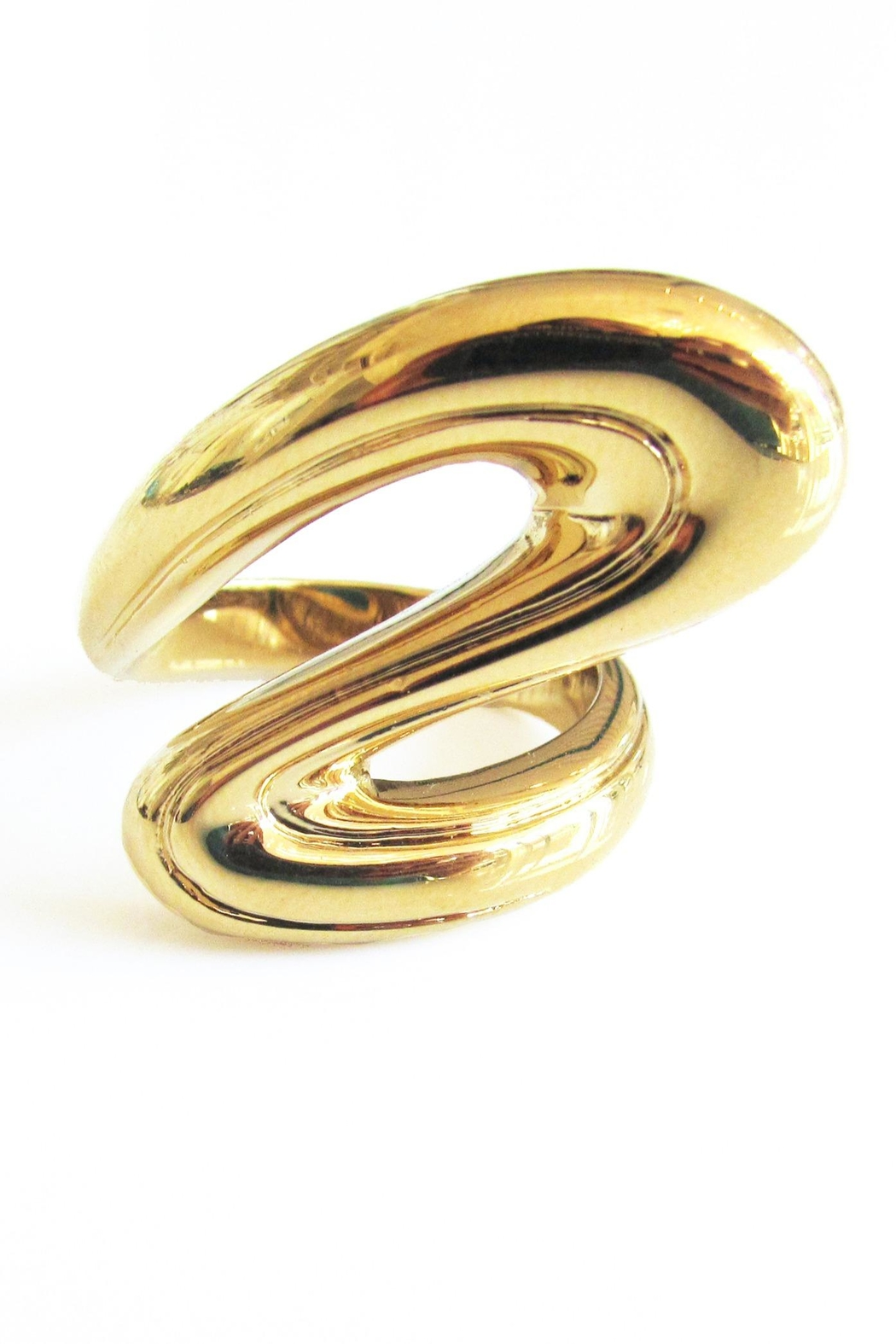 Malia Jewelry Golden Flow Ring - Front Full Image