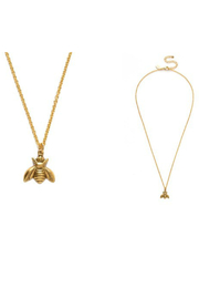 Amano Trading GOLDEN HONEY BEE NECKLACE - Front cropped
