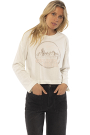 AMUSE SOCIETY Golden Hour Long Sleeve Tee - Front cropped