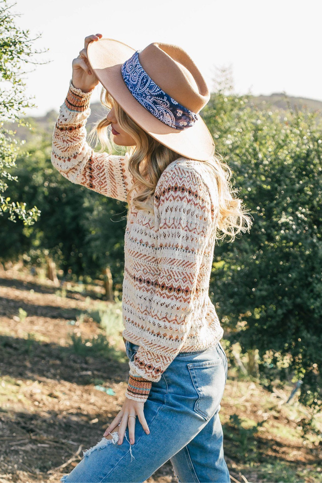Lovestitch Golden Hour Sweater - Front Full Image
