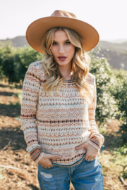 Lovestitch Golden Hour Sweater - Back cropped
