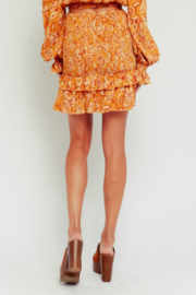 Olivaceous  Golden Paisley Mini Skirt - Side cropped