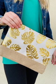 Caroline Hill Golden Palm Pouch - Product Mini Image