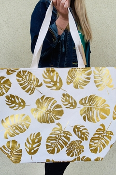 Shoptiques Product: Golden Palm Tote Bag