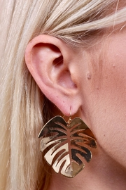 Caroline Hill Golden Palms Earrings - Product Mini Image