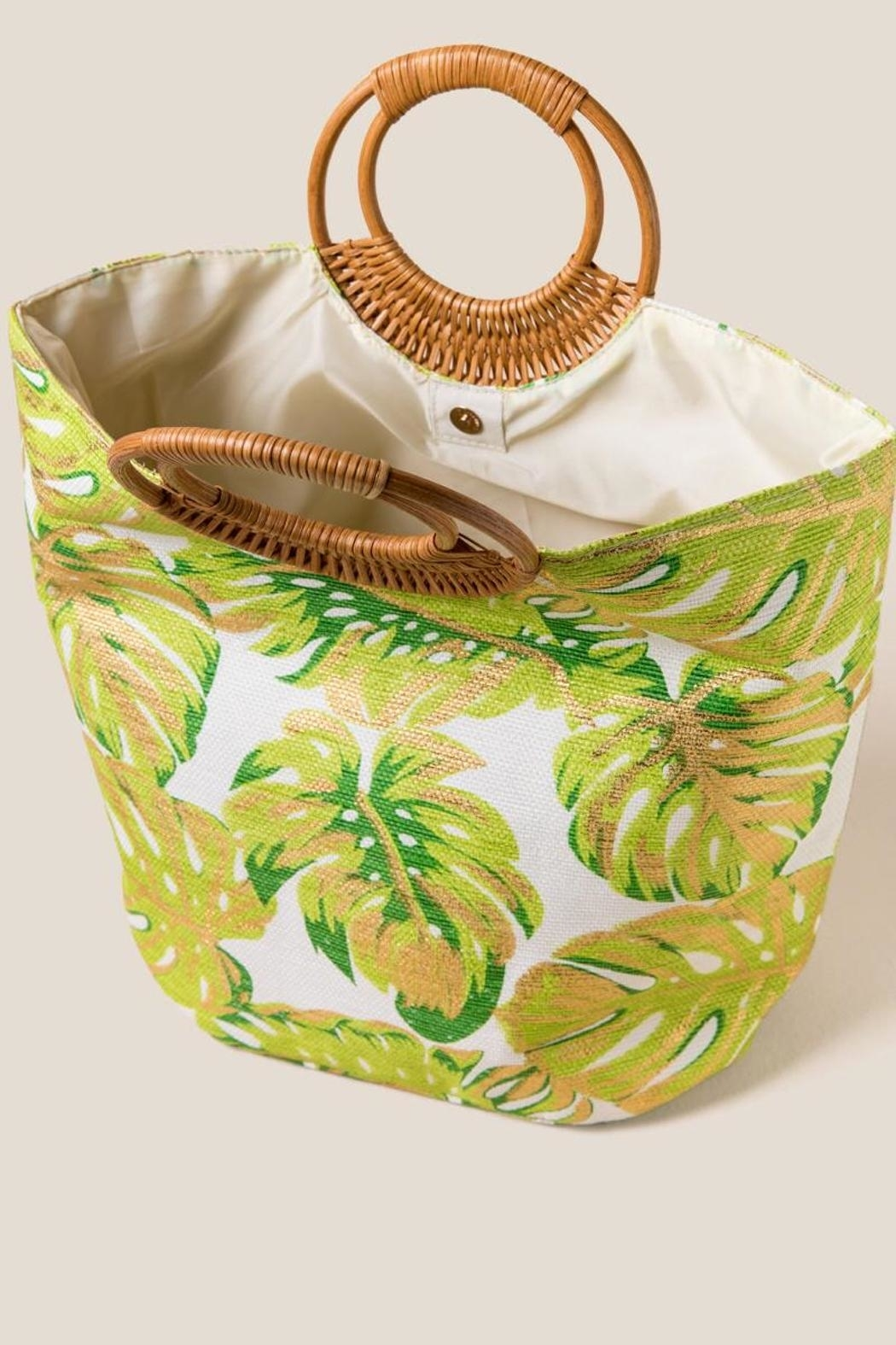 Shiraleah Golden Palms Tote - Side Cropped Image