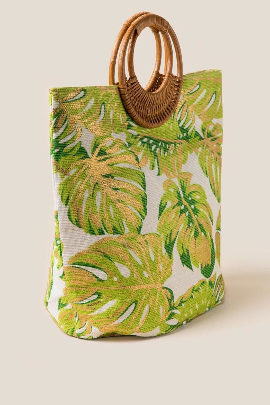 Shiraleah Golden Palms Tote - Front Full Image