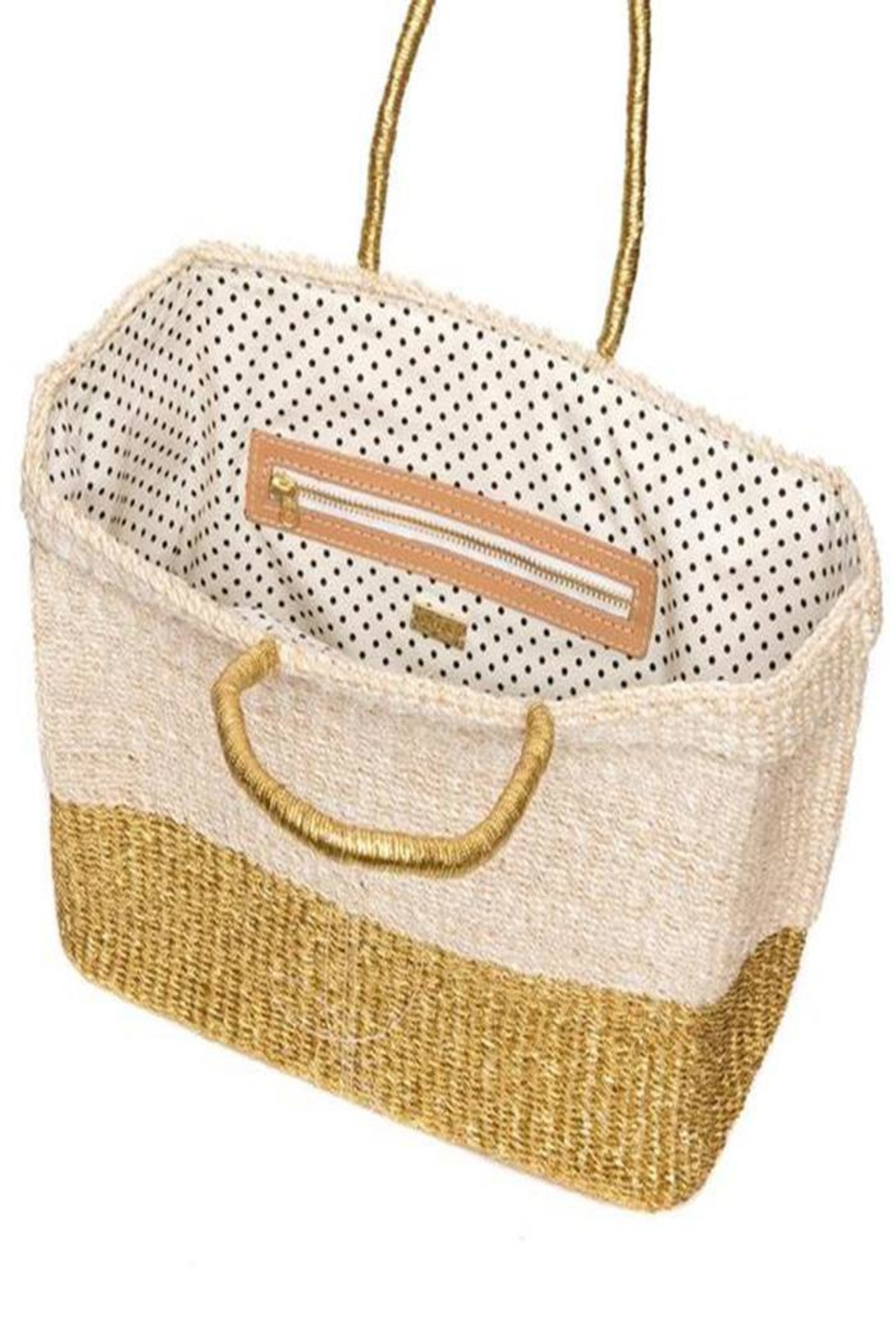 Femme Boutique Boston  Golden Reflections Tote - Front Cropped Image