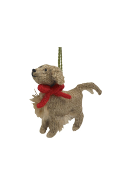 Arcadia Home Golden Retriever - Hand Knit Alpaca Ornament - Alternate List Image