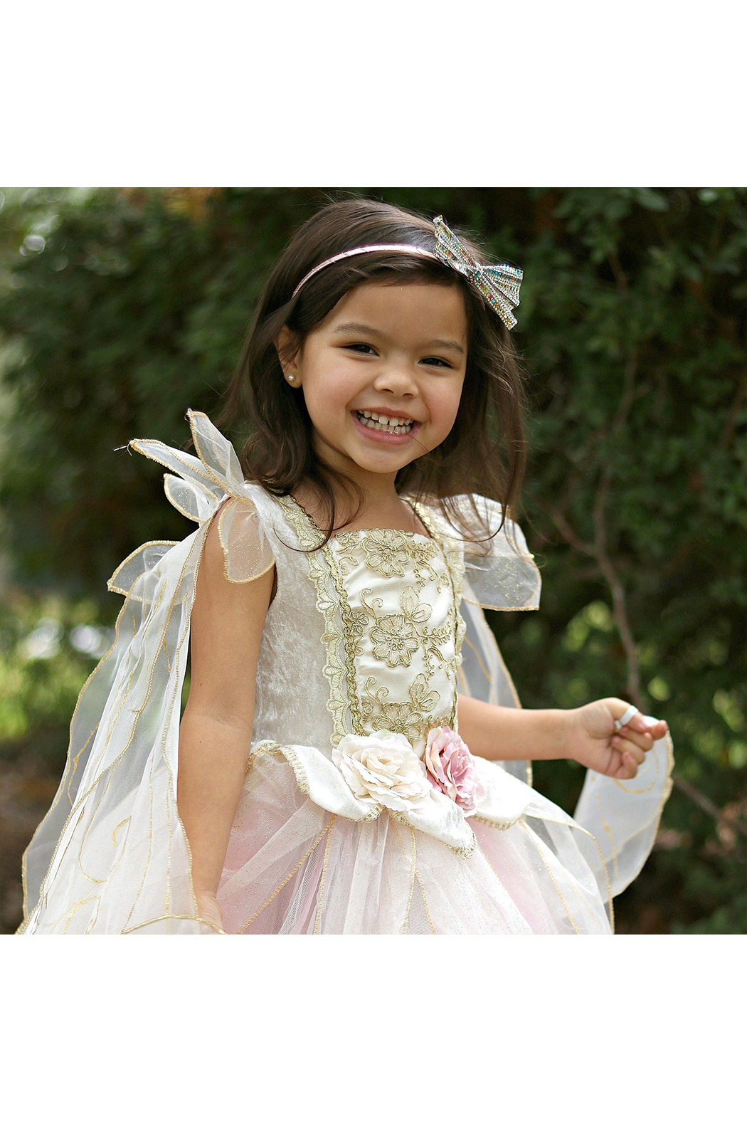 Great Pretenders  Golden Rose Fairy Dress - Back Cropped Image