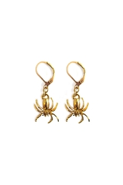 Malia Jewelry Golden Spider Earrings - Product Mini Image