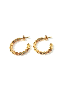 Malia Jewelry Golden Spikes Hoops - Product List Image