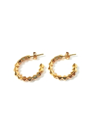 Malia Jewelry Golden Spikes Hoops - Product Mini Image