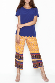 Golden Spirit Scallop Hem Top - Side cropped