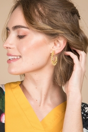 Saachi Golden Sun Earring - Side cropped