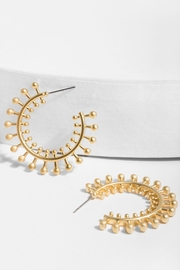 Saachi Golden Sun Earring - Front cropped