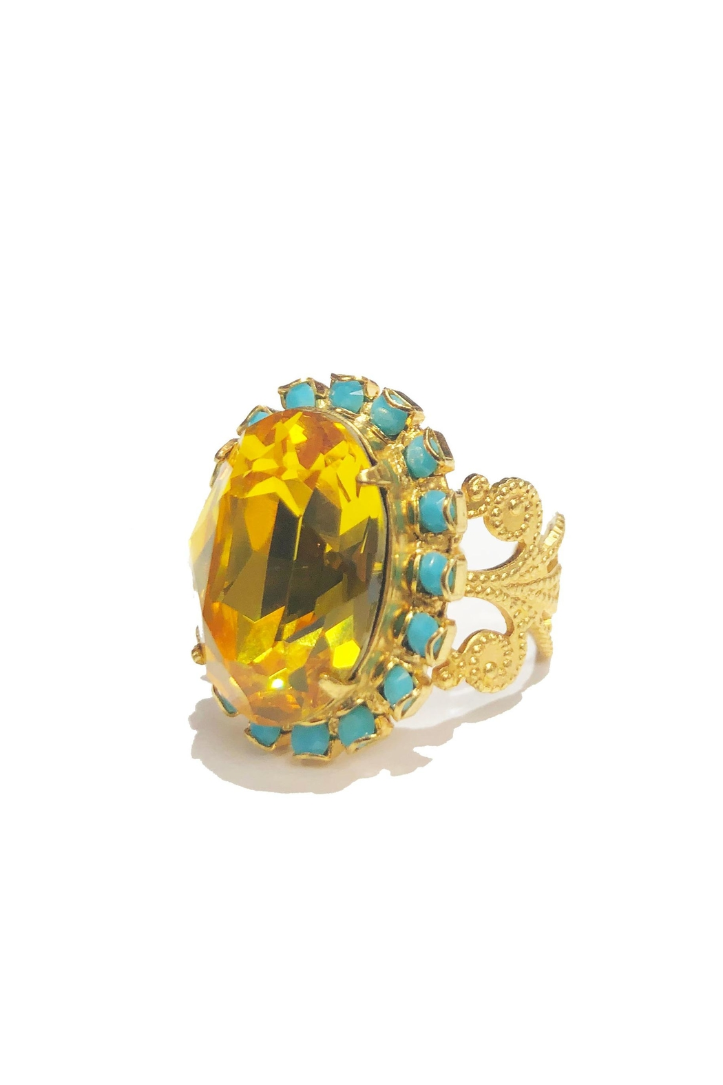 Lets Accessorize Golden Sun Ring from New York by Let's
