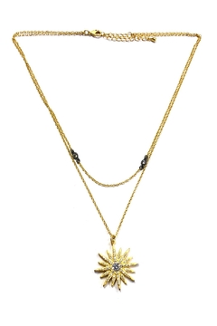 BeJe Golden Sunburst Necklace - Alternate List Image