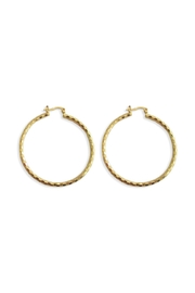 Malia Jewelry Golden Textured Hoops - Product Mini Image