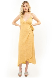 Saltwater Luxe Golden Wrap Dress - Front cropped