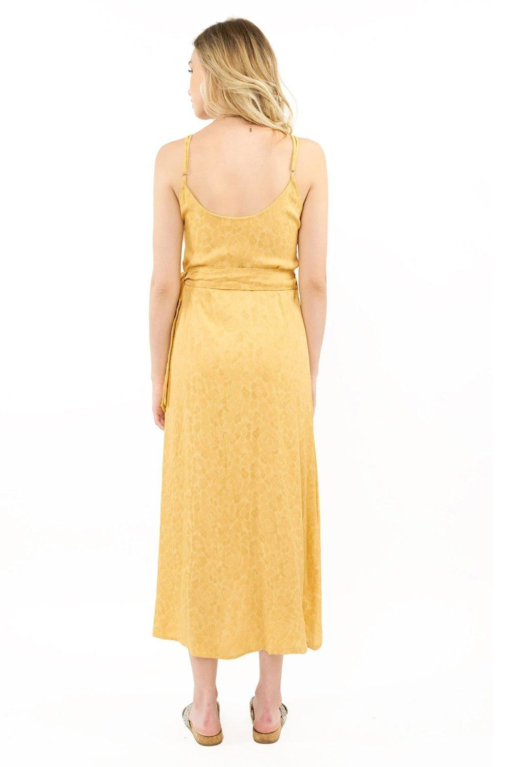 Saltwater Luxe Golden Wrap Dress - Front Full Image