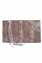 Golden Stella  Brown Reptile Clutch - Product Mini Image