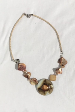 Golden Stella  Glass Bead Necklace - Alternate List Image