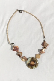 Golden Stella  Glass Bead Necklace - Product Mini Image