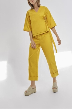 RHUMAA Goldenyellow Kimonoblouse - Product List Image