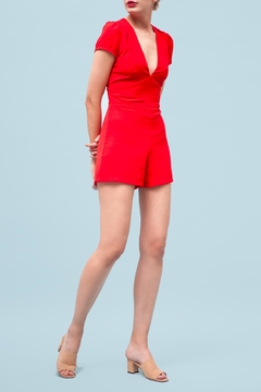 Goldie Edgy Red Playsuit - Product List Image