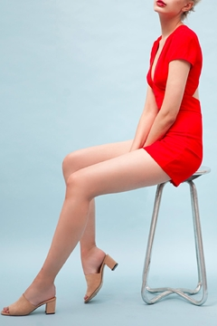 Goldie Edgy Red Playsuit - Alternate List Image