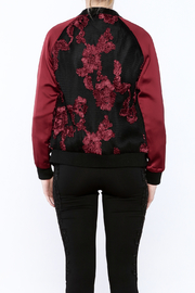 Goldie Embroidered Bomber Jacket - Back cropped