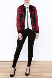 Goldie Embroidered Bomber Jacket - Front full body