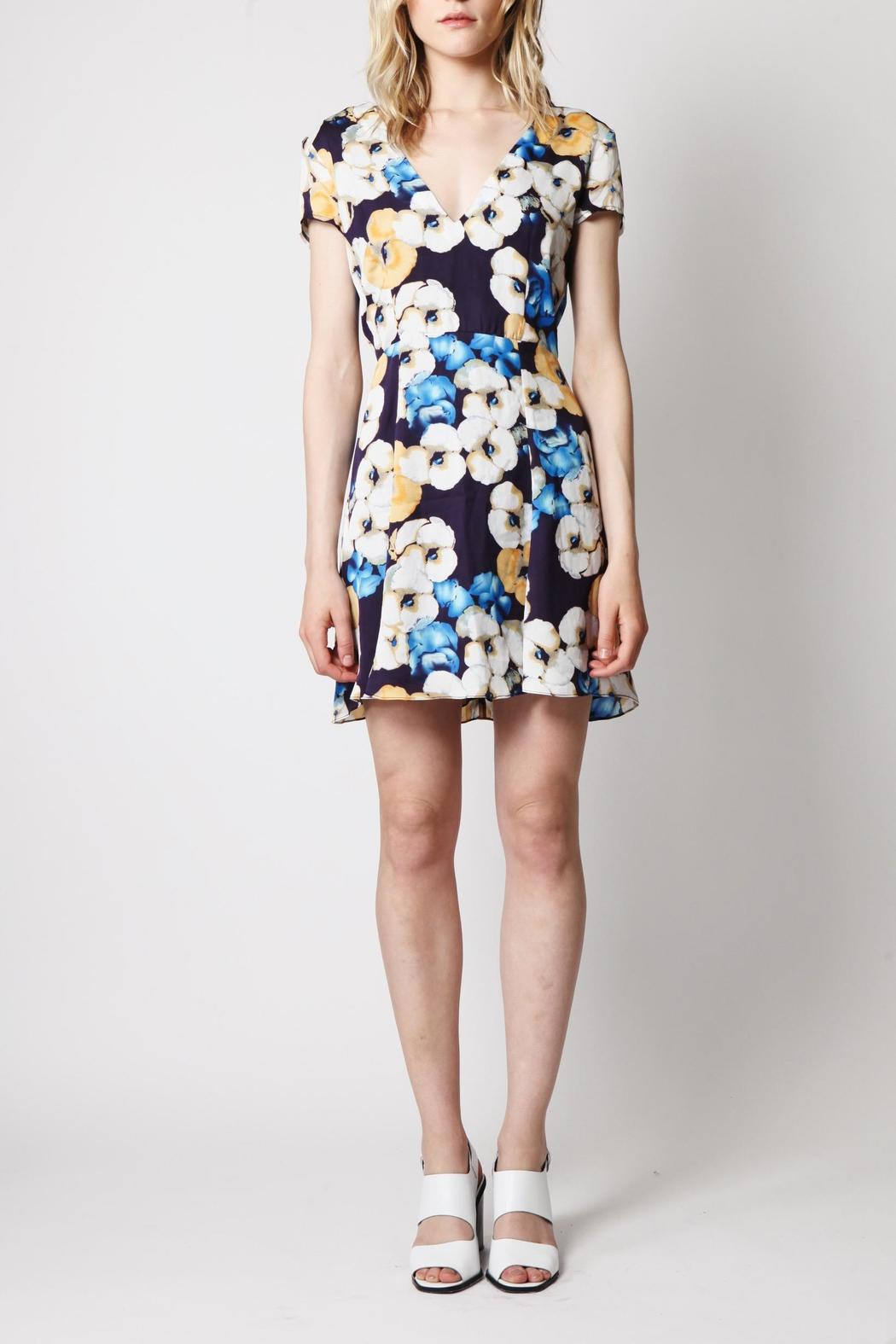 Goldie Floral Tea Dress - Front Full Image