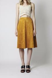 Goldie Mustard Suede Skirt - Product Mini Image