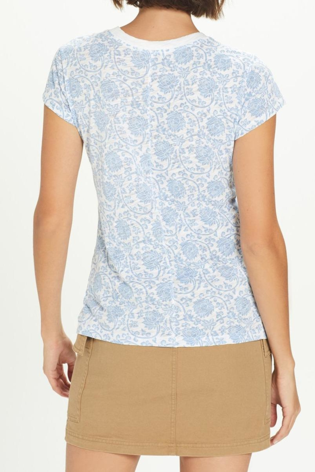 Goldie Paisley Ringer Tee - Front Full Image