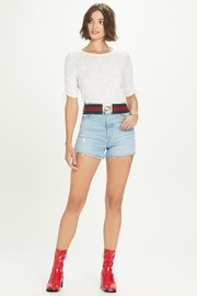 Goldie Ruched Half Sleeve Tee - Product Mini Image